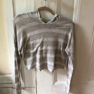 Cropped mesh hoodie